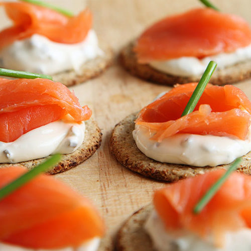 salmon cream cheese snack